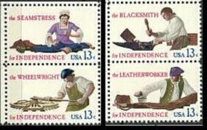 US Stamp #1717-1720 MNH – Skilled Hands – SeTenant Pairs