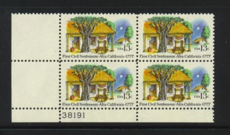 US Stamp #1725 MNH – Alta California – Plate Block of 4