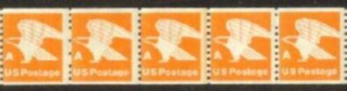 US Stamp #1743 MNH – Stylized Eagle 'A' Rate – Line Strip/5