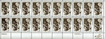 US Stamp #1754 MNH Cancer Detection Plate/ZIP Block of 20