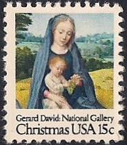 US Stamp #1768 MNH Christmas Madonna Single