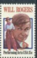US Stamp #1801 MNH Will Rogers Single