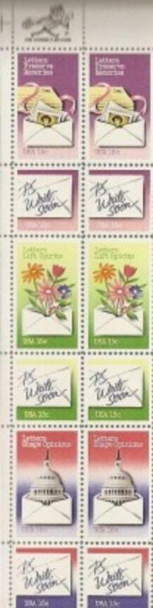 US Stamp #1805-10 MNH – Letter Writing Se-Tenant ZIP Block12