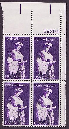 US Stamp #1832 MNH – Edith Warton – Plate Block/4