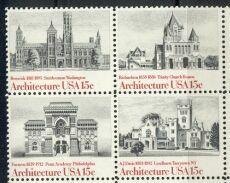 US Stamp #1838-41 MNH – Architecture – Se-Tenant Block of 4