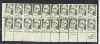 US Stamp #1874 MNH  Dirksen Plate/ZIP/MI Block of 20