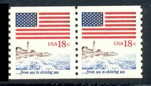 US Stamp #1891 MNH – Flag Over the Shore Line – Super Pair