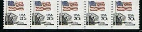 US Stamp #1895 MNH – Flag Over Supreme Court Coil PS5 #9