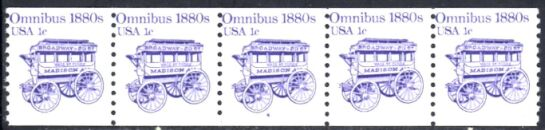 US Stamp #1897 MNH Omnibus Coil PS5 #4