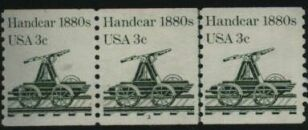 US Stamp #1898 MNH Handcar Coil PS3 #1