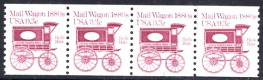 US Stamp #1903 MNH – Mail Wagon Coil PS4 #1