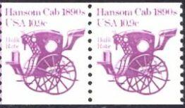 US Stamp #1904 MNH – Hansom Cab Coil Pair