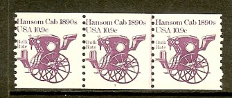 US Stamp #1904 MNH – Hansom Cab Coil PS3 #1
