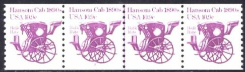 US Stamp #1904 MNH – Hansom Cab Coil PS4 #2