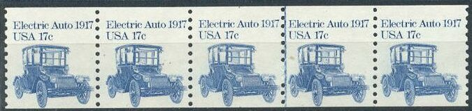 US Stamp #1906 MNH Electric Auto Coil PS5 #1 T/B