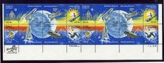US Stamp #1912-1919 MNH Space Achievement Plt/ZIP/MI Blk of 16