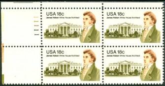 US Stamp #1935 MNH James Hoban Plate Block of 4