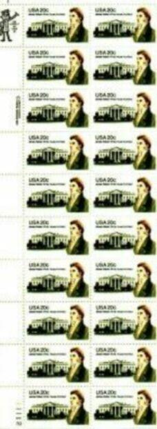 US Stamp #1935 MNH James Hoban Plate / ZIP Block of 20