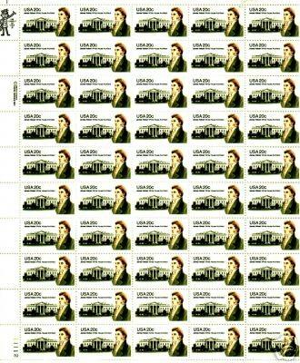 US Stamp #1936 MNH James Hoban Full Sheet