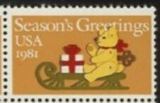 US Stamp #1940 MNH Christmas Teddy Bear Single