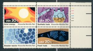 US Stamp #2006-9 MNH – Knoxville World Fair – Plate Block of 4