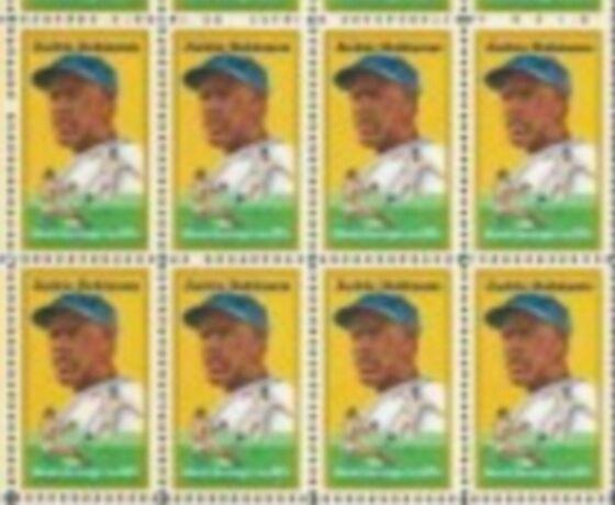 US Stamp #2016 MNH – Jackie Robinson – ZIP/Inscr. Block / 8