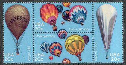 US Stamp #2032-5 MNH Balloons Se-Tenant Block of 4