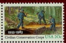 US Stamp #2037 MNH CCC Camps Single