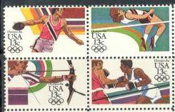US Stamp #2048-51 MNH – '84 Olympics – Se-Tenant Block of 4