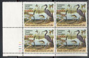 US Stamp #2086 MNH – Louisiana Statehood – Plate Block of 4