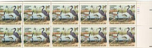 US Stamp #2086 MNH – Louisiana Statehood – Plate Block of 10