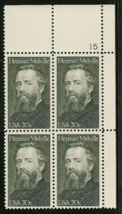 US Stamp #2094 MNH – Herman Melville – Plate Block / 4