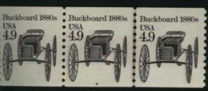 US Stamp #2124 MNH – Buckboard Coil PS3 #4