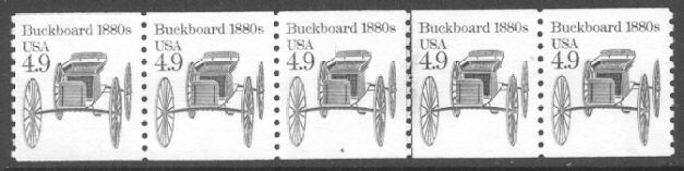 US Stamp #2124 MNH – Buckboard Coil PS5 #4