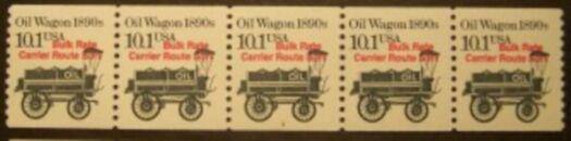 US Stamp #2130a MNH – Oil Wagon Precancel Coil PS5 #2