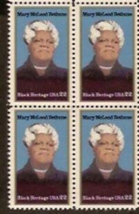 US Stamp #2137 MNH – Mary Bethune – ZIP/MI Block of 8