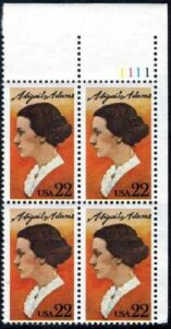 US Stamp #2146 MNH – Abigail Adams – Plate Block of 4