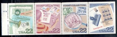 US Stamp #2201a MNH – Stamp Collecting Booklet Pane