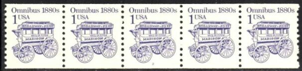 US Stamp #2225b MNH – Omnibus Coil PS5 #3