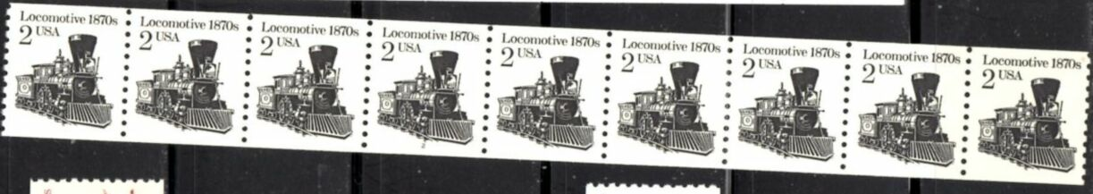 US Stamp #2226a MNH – Locomotive Coil PS9 #2