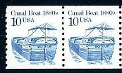 US Stamp #2257a MNH – Canal Boat Coil Pair