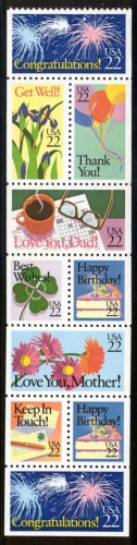 US Stamp #2274a MNH – Special Occasions Booklet Pane