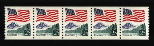 US Stamp #2280a MNH – Flag Over Yosemite PNC5 #15
