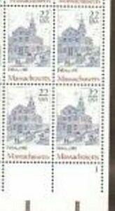 US Stamp #2341 MNH Massachusetts Ratifies Plate Block of 4