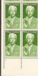 US Stamp #2350 MNH – William Faulkner – Plate Block of 4