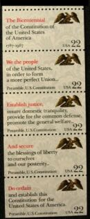 US Stamp #2359a MNH – Constitution Preamble Booklet Pane