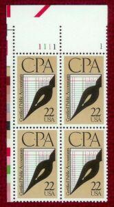 US Stamp #2361 MNH Certified Public Accountants Insc Blk GEM