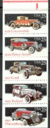US Stamp #2385a MNH – Classic Cars Booklet Pane