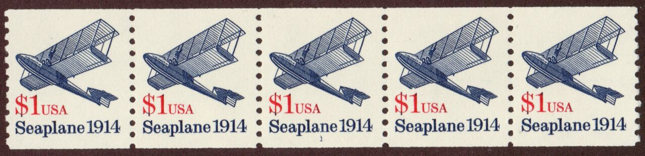 US Stamp #2468 MNH – Seaplane Coil PS5 #1