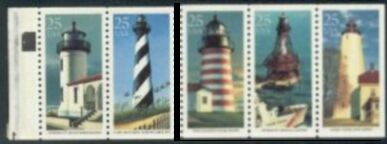 US Stamp #2474a MNH – Light Houses Booklet Pane